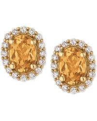 Le Vian - Yellow Beryl (1-1/10 Ct. T.w.) And Diamond (1/4 Ct. T.w.) Stud Earrings In 14k Gold - Lyst