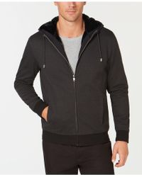 Alfani - Full-zip Hoodie With Faux-fur Lining, Created For Macy's - Lyst