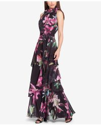 Tahari - Tiered Floral-print Gown - Lyst