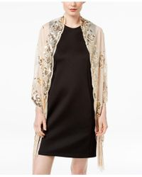 INC International Concepts - I.n.c. Floral Sequined Fringe Evening Wrap, Created For Macy's - Lyst