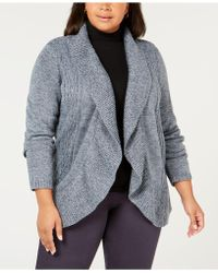 Karen Scott - Plus Size Cocoon Cardigan Sweater, Created For Macy's - Lyst