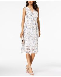 Ivanka Trump - Floral Printed Midi Dress - Lyst
