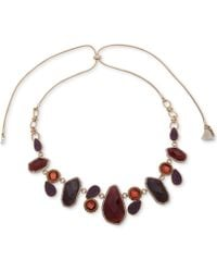 """Lonna & Lilly - Gold-tone Crystal & Stone 28"""" Slider Necklace - Lyst"""