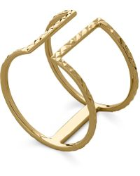 Macy's - T-bar Ring In In 14k Gold - Lyst