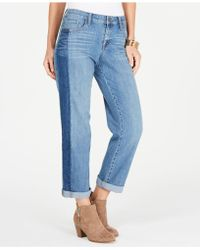 Style & Co. - Colorblocked Cropped Boyfriend Jeans, Created For Macy's - Lyst