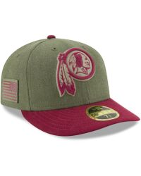 65cad09a0 KTZ - Washington Redskins Salute To Service Low Profile 59fifty Fitted Cap  2018 - Lyst