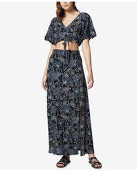 Sanctuary - Printed Crop Top & Maxi Skirt Set - Lyst