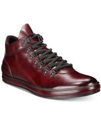 Kenneth Cole Reaction - Brand Tour Leather Sneakers - Lyst