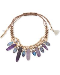 Lonna & Lilly - Gold-tone Stone & Charm Beaded Multi-row Slider Bracelet - Lyst