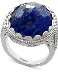 Effy Collection - Lapis Lazuli Statement Ring (12-1/5 Ct. T.w.) In Sterling Silver - Lyst