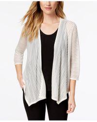 Alfani - Illusion-stripe Cardigan, Created For Macy's - Lyst