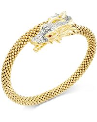 Macy's - Diamond Dragon Bypass Bracelet (1 Ct. T.w.) In 14k Gold Over Sterling Silver - Lyst