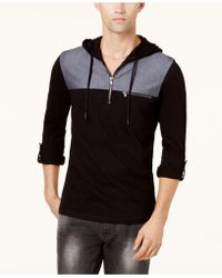 INC International Concepts - Men's Quarter-zip Hoodie - Lyst