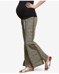 Jessica Simpson - Maternity Smocked Wide-leg Pants - Lyst