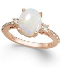 Effy Collection - Aurora By Effy Opal (1-3/8 Ct. T.w.) And Diamond (1/4 Ct. T.w.) Oval Ring In 14k Rose Gold - Lyst