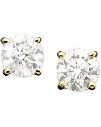 Macy's - Diamond Stud Earrings In 14k Gold (1/3 Ct. T.w.) - Lyst