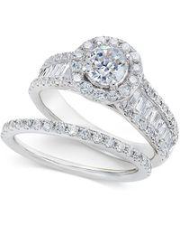 Macy's - Diamond Bridal Set (2 Ct. T.w.) In 14k White Gold - Lyst