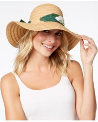 INC International Concepts - I.n.c. Palm-print-scarf Floppy Hat, Created For Macy's - Lyst
