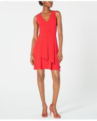 19 Cooper - Overlay Fit & Flare Dress - Lyst
