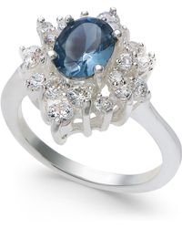Charter Club - Silver-tone Crystal & Stone Oval Halo Ring, Created For Macy's - Lyst