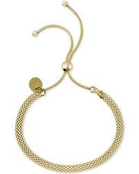 Argento Vivo - Mesh Chain Bolo Bracelet - Lyst