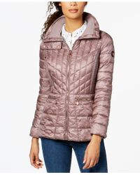 Bernardo - Quilted Packable Puffer Coat - Lyst