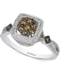 Le Vian - Chocolate And White Diamond Deco Ring (5/8 Ct. T.w.) In 14k Gold - Lyst