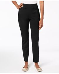 Charter Club - Petite Pull-on Ponté-knit Trousers, Created For Macy's - Lyst