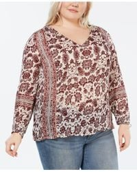 93d6bfdb7f4 Lucky Brand Draped Paisley-print Top in Pink - Lyst