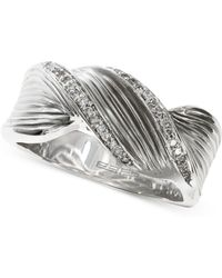 Effy Collection - Balissima By Effy Twisted Diamond Ring (1/6 Ct. T.w.) In Sterling Silver - Lyst