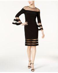 Betsy & Adam - Illusion-stripe Sheath Dress - Lyst
