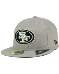 newest 932ca 3ee41 KTZ Los Angeles Dodgers Heather Mashup 59fifty Cap in Natural for Men - Lyst