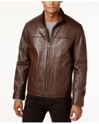 Cole Haan - Men's Leather Jacket - Lyst