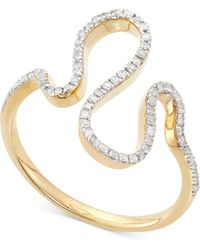 Wrapped in Love - Diamond Squiggle Ring (1/5 Ct. T.w.) In 10k Gold - Lyst
