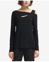 DKNY - Asymmetrical Cold-shoulder Top, Created For Macy's - Lyst