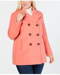 c00793aaa2b Calvin Klein - Plus Size Wool-cashmere-blend Peacoat
