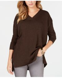 Style & Co. - High-low Over-sized Tunic Top, Created For Macy's - Lyst