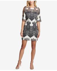Kensie - Cold-shoulder Lace Shift Dress - Lyst
