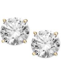 Macy's - Diamond Stud Earrings In 14k Gold (1-1/4 Ct. T.w.) - Lyst