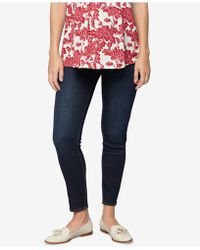 Luxe Essentials - Maternity Rinse Wash Skinny Jeans - Lyst