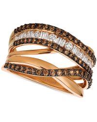 Le Vian - Diamond (1-1/8 Ct. T.w.) Crisscross Ring In 14k Rose Gold - Lyst