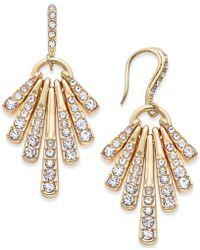 INC International Concepts - Gold-tone Pavé Shaky Drop Earrings - Lyst