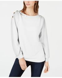 1.STATE - Cozy Metallic-trim Sweatshirt - Lyst