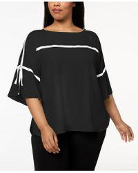 Calvin Klein | Plus Size Flared-sleeve Top | Lyst