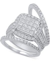 Macy's - Diamond 3-pc. Bridal Set (2-1/2 Ct. T.w.) In 14k White Gold - Lyst