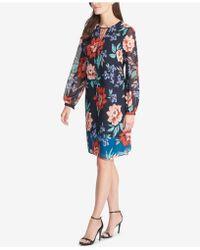 Vince Camuto - Floral-print Shift Dress - Lyst