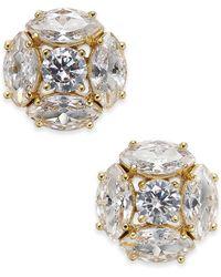 Kate Spade - Gold-tone Crystal Cluster Stud Earrings - Lyst