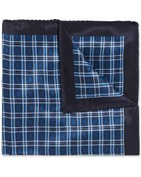 BOSS - Checked Silk Pocket Square - Lyst