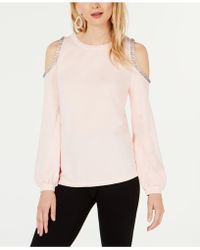 INC International Concepts - I.n.c. Embellished Cold-shoulder Sweatshirt, Created For Macy's - Lyst