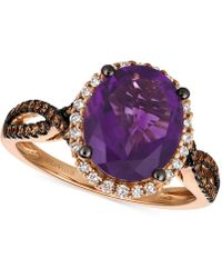 Le Vian - Grape Amethysttm (2-3/4 Ct. T.w.) And Diamond (3/8 Ct. T.w.) Ring In 14k Rose Gold - Lyst
